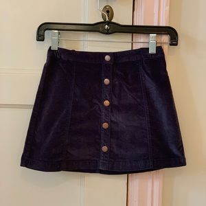 Zara navy girls button up skirt Worn once or twice